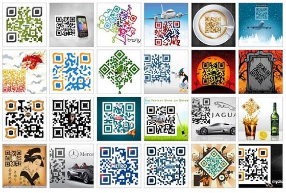 Alcune pubblicità che hanno implementato l'uso del QR code.